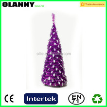 gift purple PVC inflatable artificial christmas tree