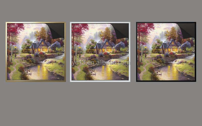 updating art quickly on the same magnetic picture frame & print magnetic painting Thomas kindaides painting