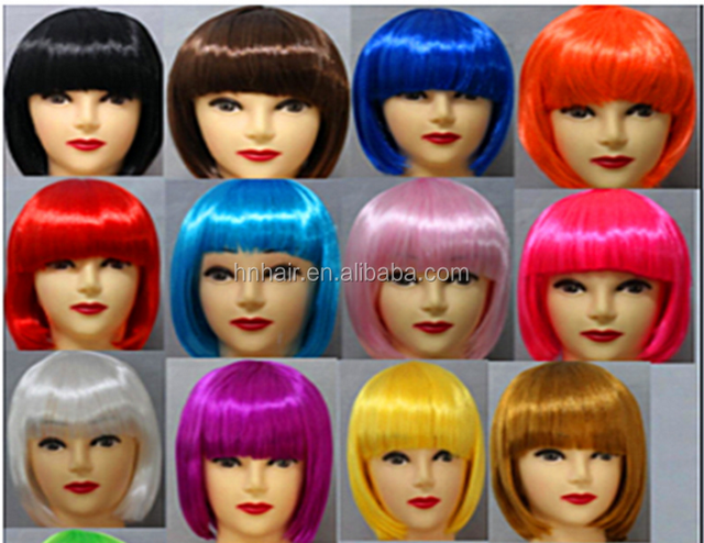 Wholesale Factory American fashion short curly high temperature synthetic fiber wigs