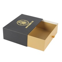 Wholesale Custom Printed Small Statement Earrings Drawer Paper Jewelry Packaging Slide Box