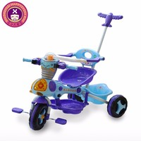 New Design 3 Wheel Colorful Plastic Push Along Trikes For Toddlers