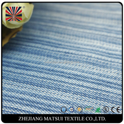 denim manufacturer direct white and indigo blue stripe 100 cotton yarn dyed denim woven twill chambray fabric