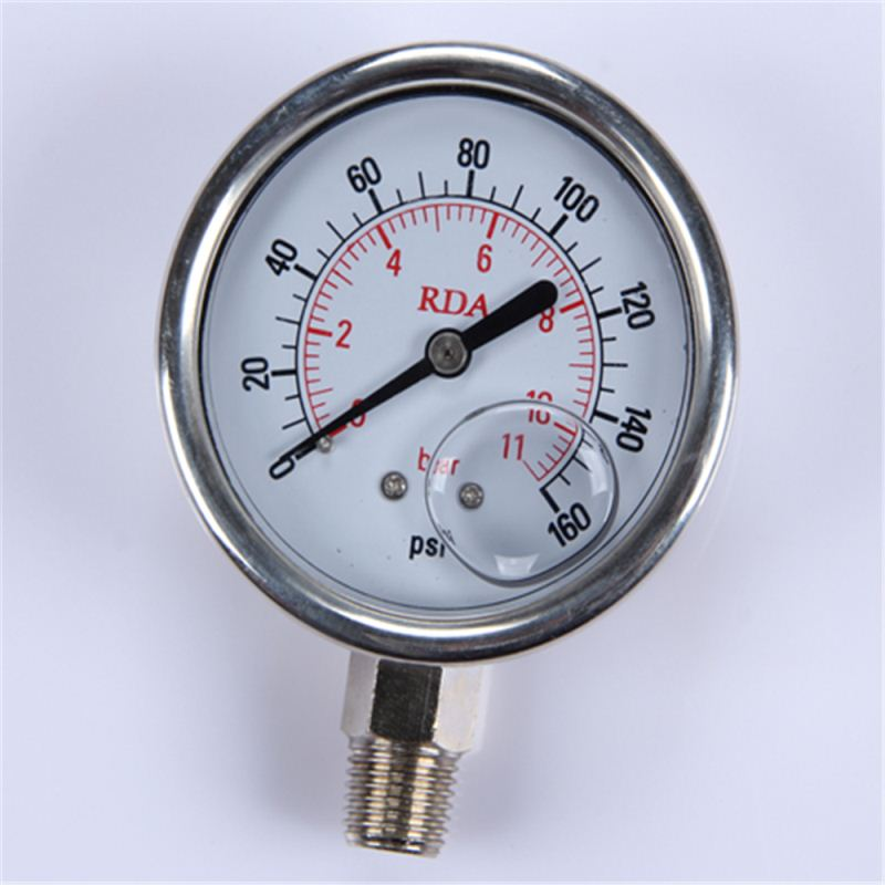 New Design Durable Light Weight Easy To Read Clear Led Double Needle Pressure Gauge