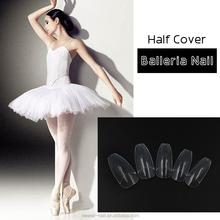 2017 new nail acrylic design Longer coffin Nail tips natural for Salon