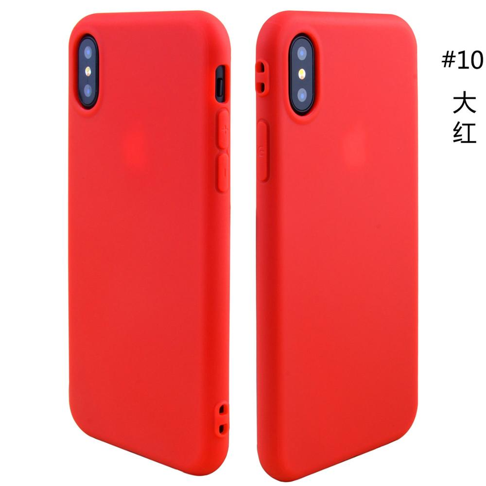Soft Silicone Thick TPU Jelly Case For iPhone X Matte Pudding Candy case