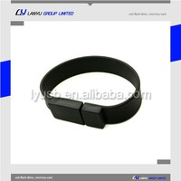 Silicone usb flash drive with logo wristband bracelet usb memory stick for promotion gift