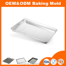 OEM&ODM different size aluminum baking sheet pans/flat baking tray/industrial aluminium baking trays to Amazon market