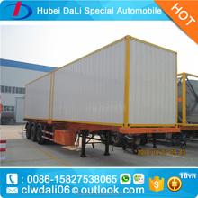 Widely used container transportation semitrailer/van type truck trailer
