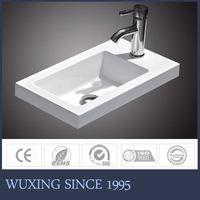 Artificial Stone Bathroom Sink Small Hand Wash Basin New Model for 2016 Sale