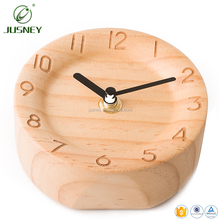 Wholesale Exquisite Table Clock Decoration Real Wooden Desk Clock Classic Custom Digital Table Clock