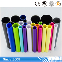colorful hard PP pipe/ PP plastic pipe /tube ,Propene Polymer plastic pipe