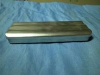 rectangular plain metal tin cigar / cigarette box