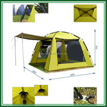 High quality instant 6 person waterproof camping automatic tent