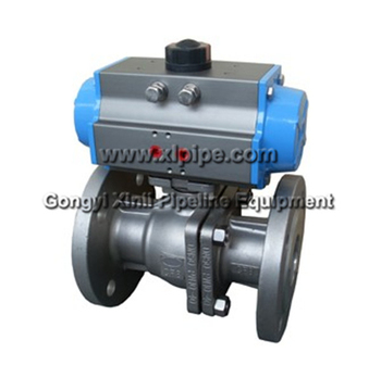 Ball Valve with Pneumatic Actuator and Solenoid