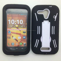 Black Hybrid Case Cover Skins For Kyocera hydro edge c5215