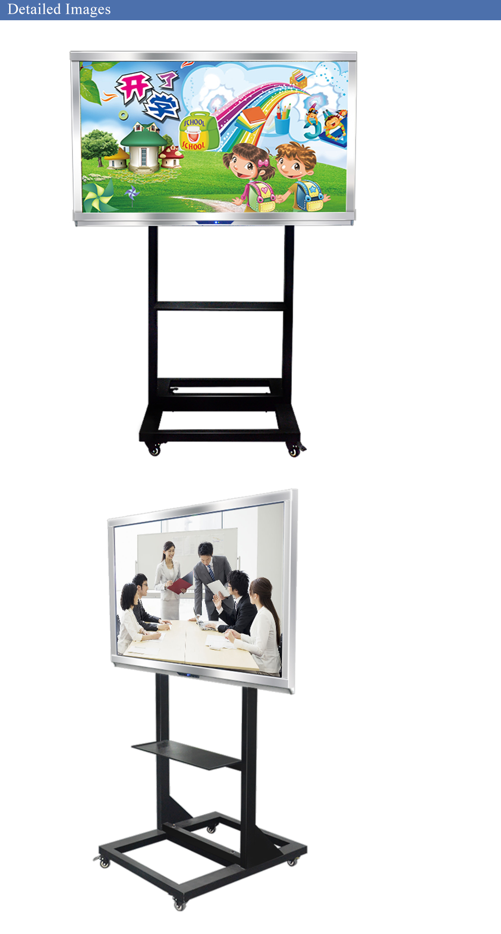 "China Factory 65"" Multi-touch Electronic Interactive Whiteboard for Educational Use"