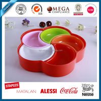 flower shape melamine candy serving tray, plastic tray