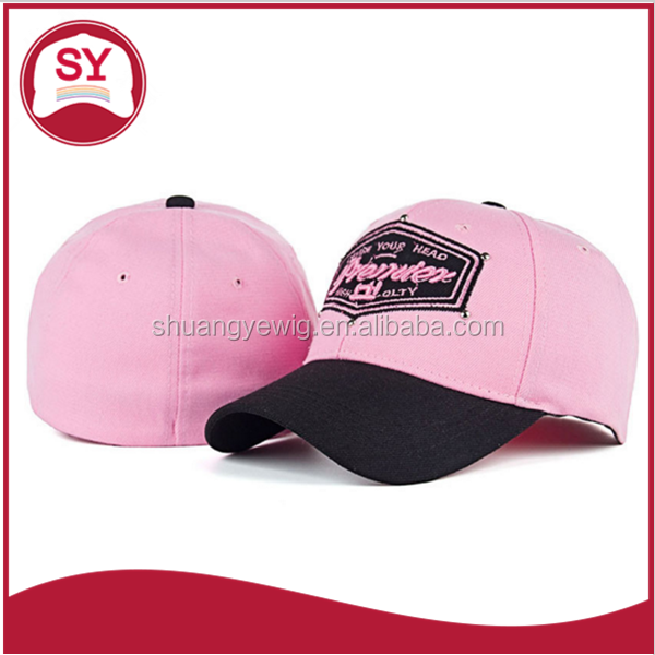 embroidery logo two tone colors flexfit baseball cap with elastic band