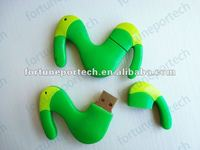 Green PVC rubber MoviStar USB gift, cutomized usb memory