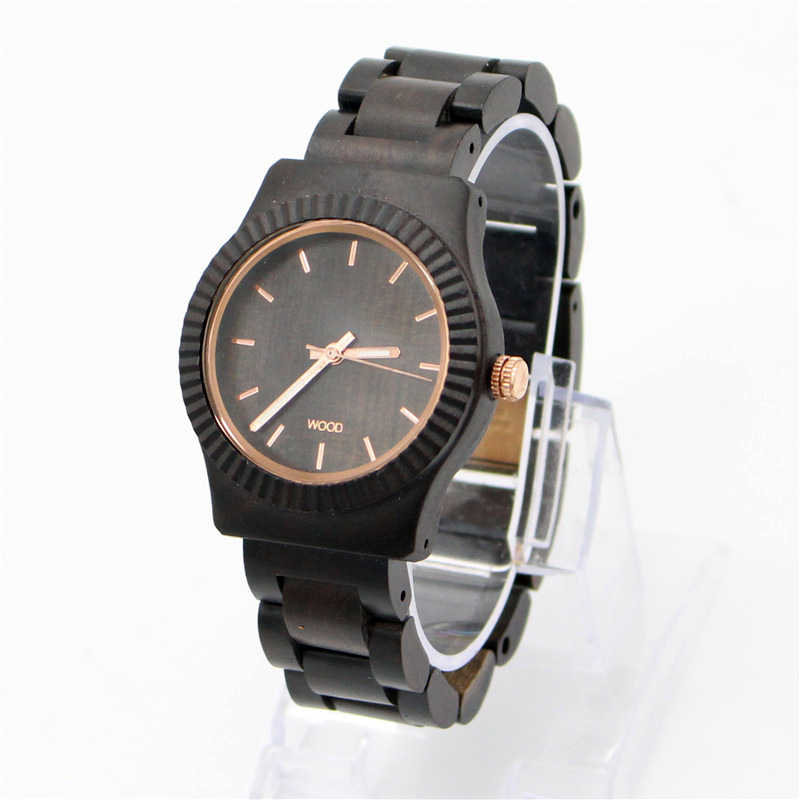black wood with fashion design watch high quality at good price japan movement wood watch