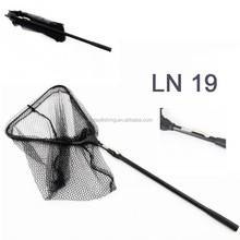 TELESCOPIC FOLDING FISHING LANDING NET TELE POLE MICRO MESH TROUT SALMON NET