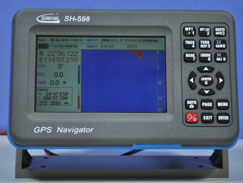 2016 latest fish finder gps combo chart plotter with for Fish finder with gps