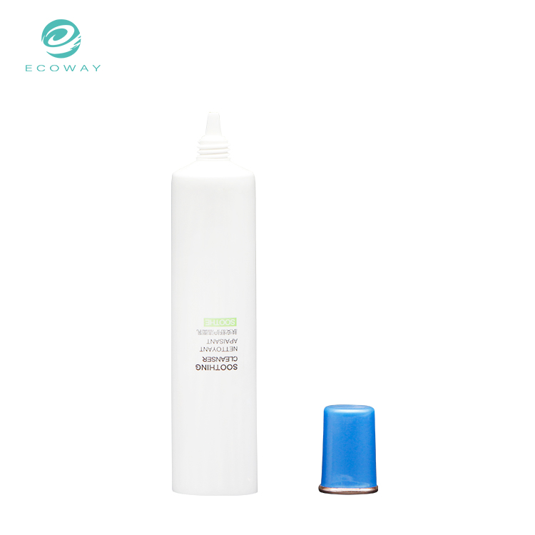 Aluminum laminated face wash cosmetic tube with customized screw cap