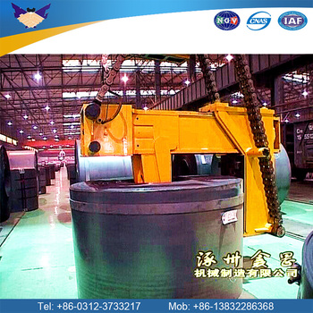steel slab billet lifting clamp tongs material handling coil loading material handling equipment