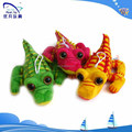 stuffed crocodile keychain/plush animals big eyes /plush crocodile pendant