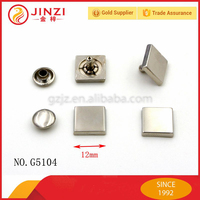 JINZI metal 12mm square head rivet nail button for leather jeans/bags