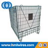 Steel collapsible foldable PET preform wire mesh cage