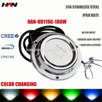 Life hours above 50000hours and 100% waterproof underwater fishing/boat/swimming lights 100W 12 v