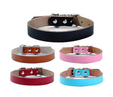 Strong Genuine Cow Leather Pet Dog Collar Solid Color Double Lines Large Dog Collar xs-xl sizes letters printed collars