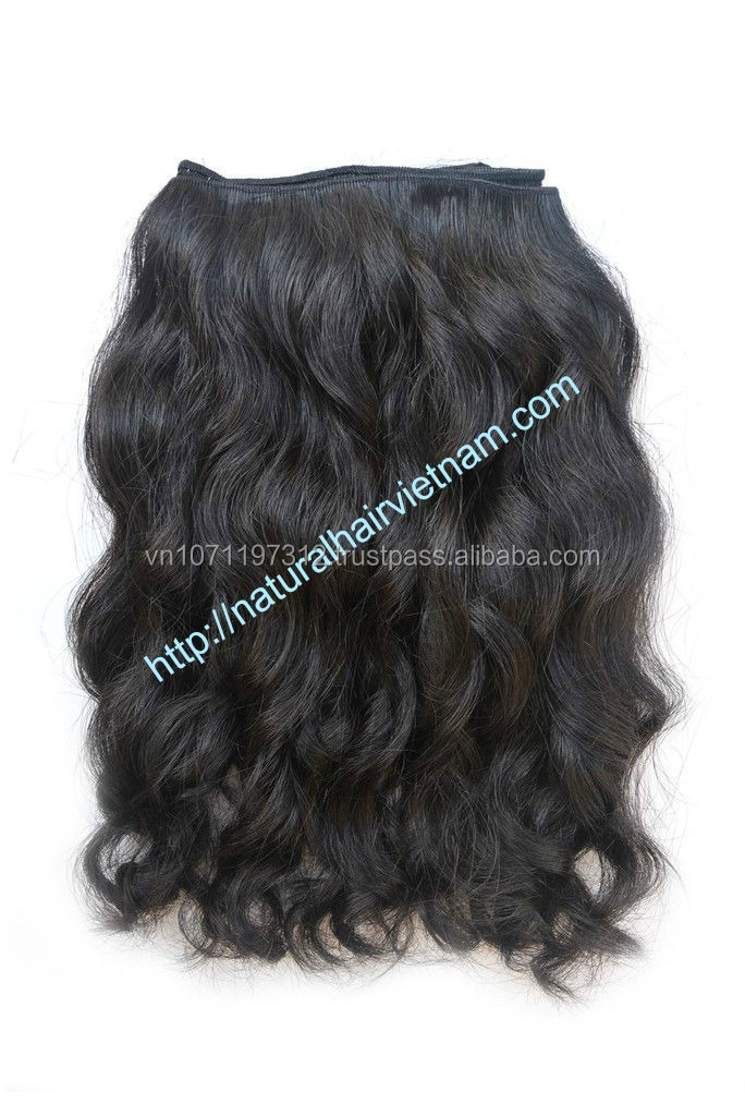New hair product no tangle no shedding 100% human remy hair body wave Vietnam hair weft machine