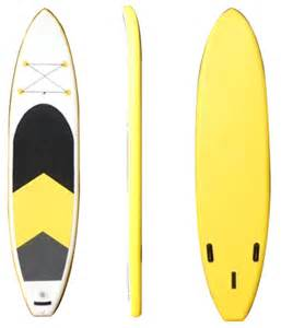 reinforced pvc inflatable surfboard for sale yellow make in china