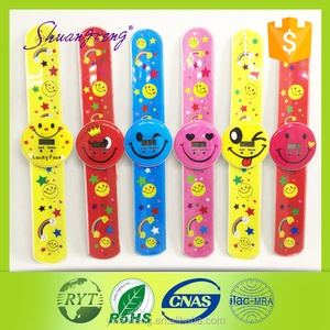 Wholesale popular silicone slap bracelet watch
