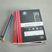 high quality school/office supply 96 sheets red tape notebook
