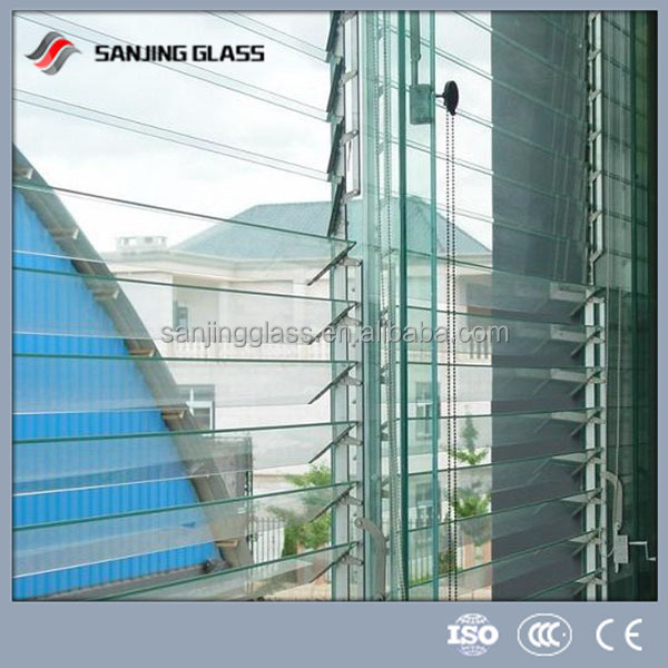 Tempered jalousie window glass