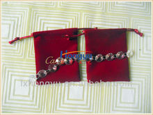 Hot sale velvet jewelry pouch bag