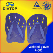high quality flexible webbed swimming gloves