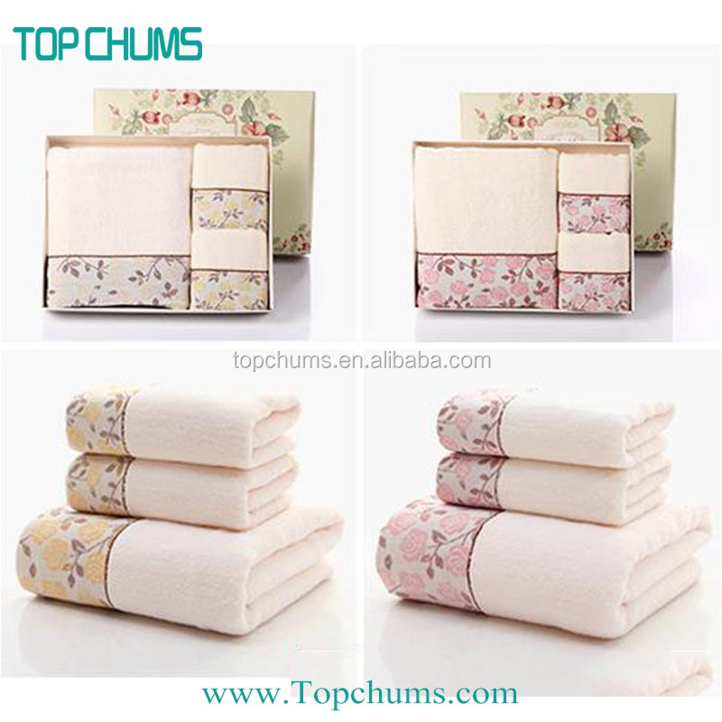 China supplier 100% cotton luxury bath towel gifts set