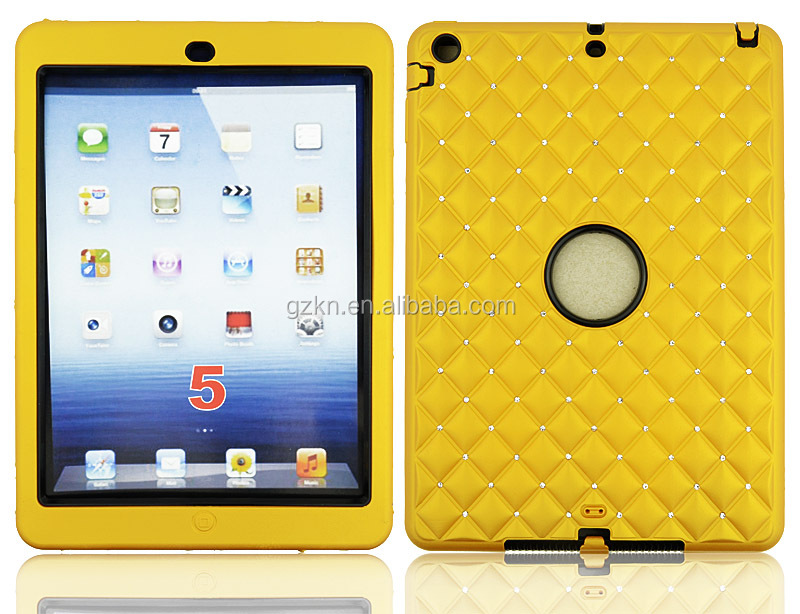 For iPad air shockproof defender case with rhinestone design