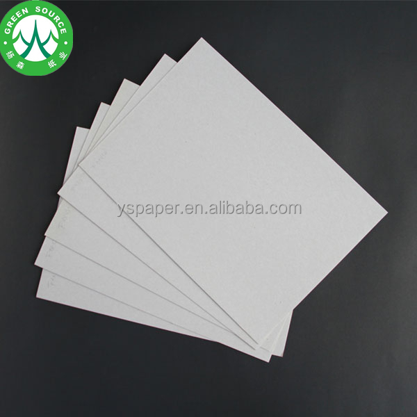 Recycled pulp 1.5mm thick paper uncoated grey board/grey carton board
