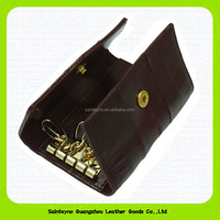 Faux leather key pouch, real leather key bag 15107