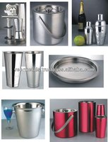 Stainless Steel Barware Products/Ice Buckets/cocktail shakers/Bar tray