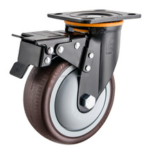 Heavy Duty swivel with brake caster skip proof TPR wheel