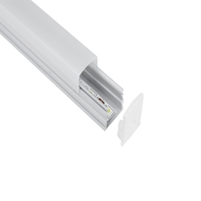 High quality good surface quality led extrusion aluminum profile sealed by end cap