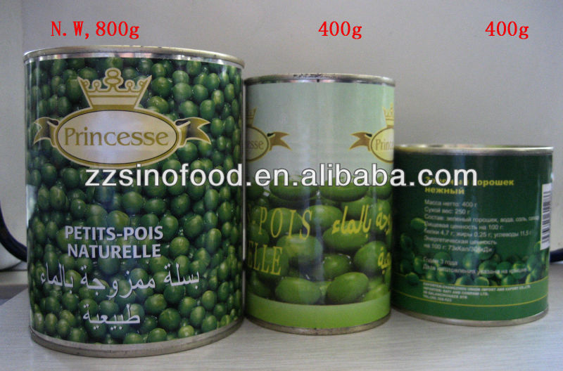 hight quality new season of canned fresh green peas
