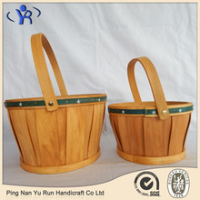 Customer design cheap useful wooden woodchip wicker picnic basket
