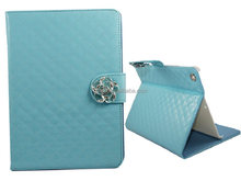 shiny glaze leather phone case with camellia for ipad 5